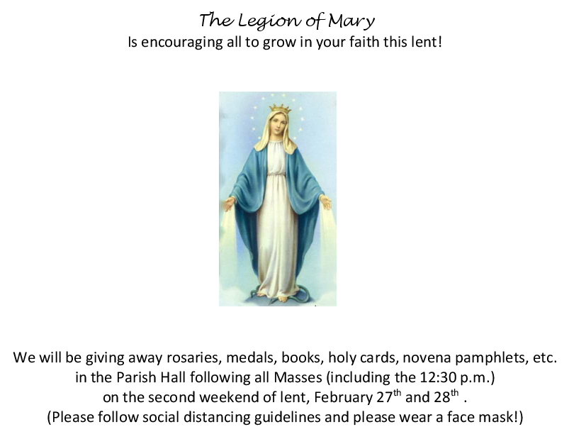 Legion of Mary Giveaway